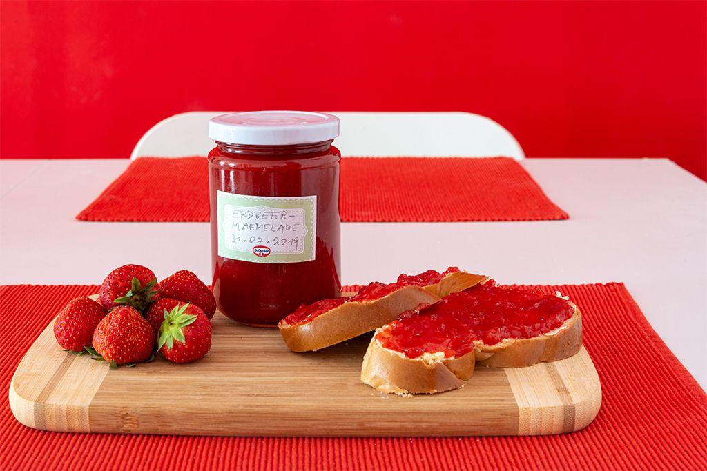 Erdbeermarmelade-Leicht