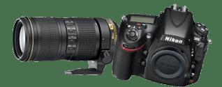 Nikon D800+200 mm Zoom Objektiv